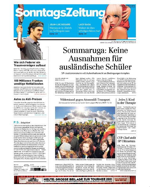 Sonntags Zeitung - Newspaper magazine