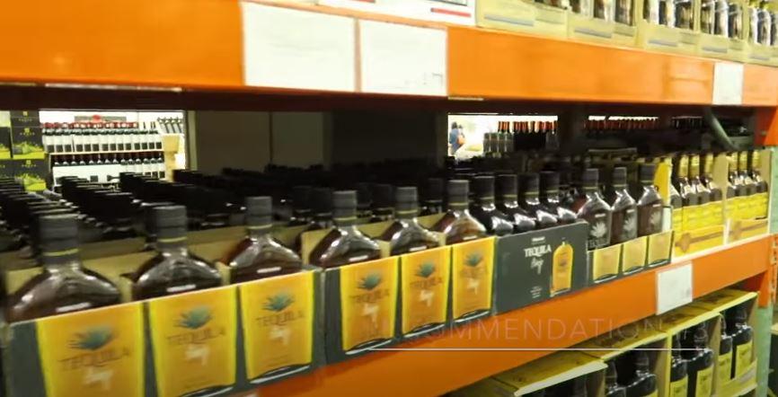 Costco alcohol area