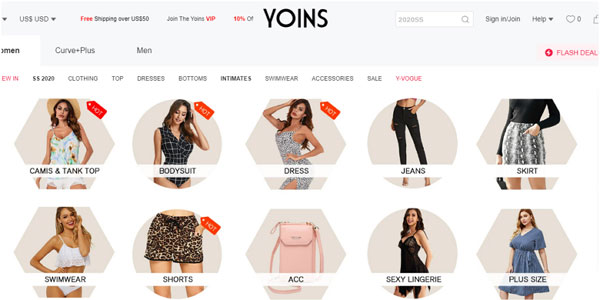 Yoins US brand