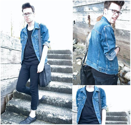Denim with trouser