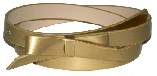 Gold Plated Leather Belts