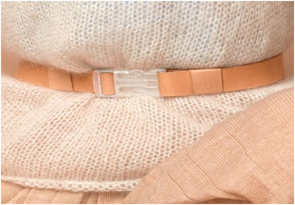 Leather with Transparent Buckle Belt