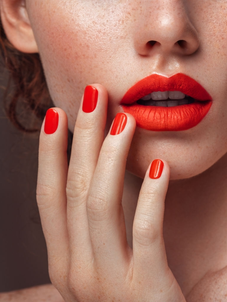 Lipstick in Russian Red