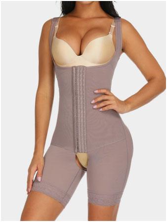 Flatten Tummy Body Shapewear with 3 Hooks